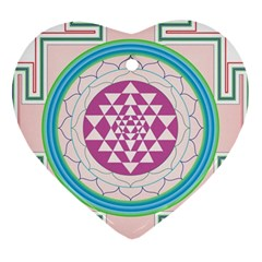 Mandala Design Arts Indian Heart Ornament (two Sides) by Celenk