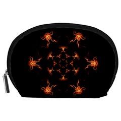 Mandala Fire Mandala Flames Design Accessory Pouches (large)