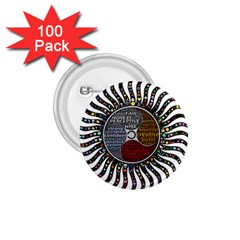 Whole Complete Human Qualities 1 75  Buttons (100 Pack)  by Celenk