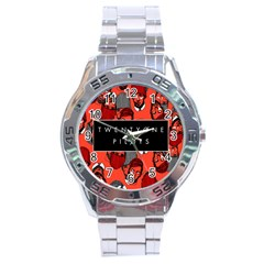 Twenty One Pilots Pattern Stainless Steel Analogue Watch by Onesevenart