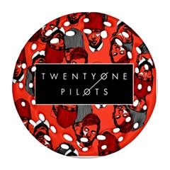 Twenty One Pilots Pattern Round Filigree Ornament (two Sides) by Onesevenart
