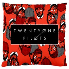 Twenty One Pilots Pattern Large Cushion Case (one Side) by Onesevenart