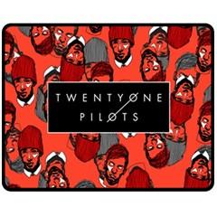 Twenty One Pilots Pattern Double Sided Fleece Blanket (medium)  by Onesevenart