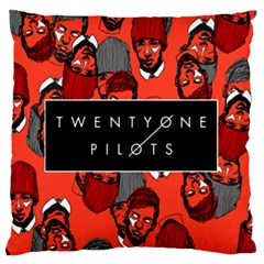 Twenty One Pilots Pattern Large Flano Cushion Case (one Side) by Onesevenart