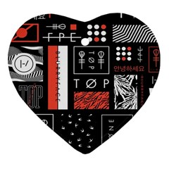 Twenty One Pilots Poster Heart Ornament (two Sides) by Onesevenart