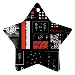 Twenty One Pilots Poster Star Ornament (two Sides) by Onesevenart