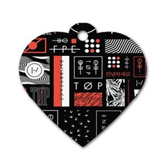 Twenty One Pilots Poster Dog Tag Heart (one Side) by Onesevenart