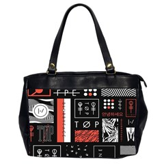 Twenty One Pilots Poster Office Handbags (2 Sides)  by Onesevenart