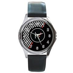 Twenty One Pilots Poster Round Metal Watch by Onesevenart