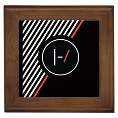 Twenty One Pilots Poster Framed Tiles by Onesevenart