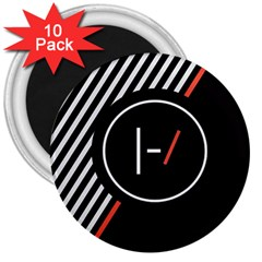 Twenty One Pilots Poster 3  Magnets (10 Pack)  by Onesevenart