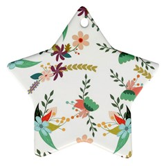 Floral Backdrop Pattern Flower Ornament (star) by Celenk