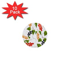 Juicy Currants 1  Mini Buttons (10 Pack)  by TKKdesignsCo