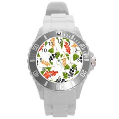 Juicy Currants Round Plastic Sport Watch (l) by TKKdesignsCo
