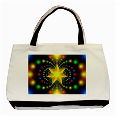 Christmas Star Fractal Symmetry Basic Tote Bag by Celenk