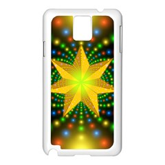 Christmas Star Fractal Symmetry Samsung Galaxy Note 3 N9005 Case (white) by Celenk