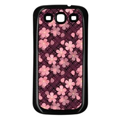 Cherry Blossoms Japanese Style Pink Samsung Galaxy S3 Back Case (black) by Celenk