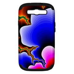 Fractal Background Pattern Color Samsung Galaxy S Iii Hardshell Case (pc+silicone)