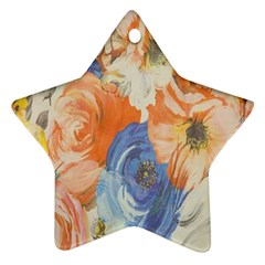 Texture Fabric Textile Detail Star Ornament (two Sides) by Celenk