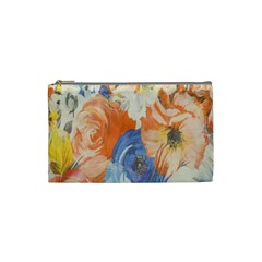 Texture Fabric Textile Detail Cosmetic Bag (small)  by Celenk