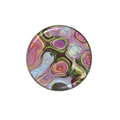 Retro Background Colorful Hippie Hat Clip Ball Marker (4 Pack) by Celenk