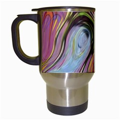 Retro Background Colorful Hippie Travel Mugs (white) by Celenk