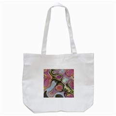 Retro Background Colorful Hippie Tote Bag (white) by Celenk
