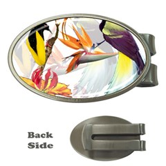 Birds Of Paradise Money Clips (oval)  by TKKdesignsCo