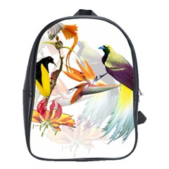 Birds Of Paradise School Bag (xl) by TKKdesignsCo