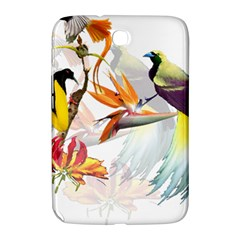Exotic Birds Of Paradise And Flowers Watercolor Samsung Galaxy Note 8 0 N5100 Hardshell Case  by TKKdesignsCo