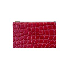 Textile Texture Spotted Fabric Cosmetic Bag (small)  by Celenk