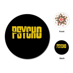 Psycho  Playing Cards (round)  by Valentinaart