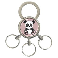 Cute Panda 3 Ring Key Chains by Valentinaart