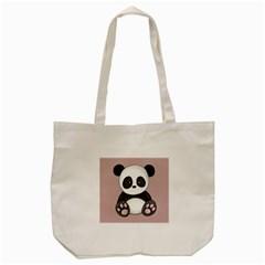 Cute Panda Tote Bag (cream) by Valentinaart