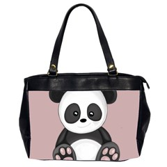 Cute Panda Office Handbags (2 Sides)  by Valentinaart