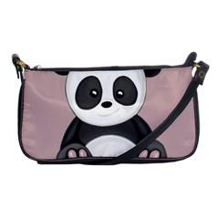 Cute Panda Shoulder Clutch Bags by Valentinaart