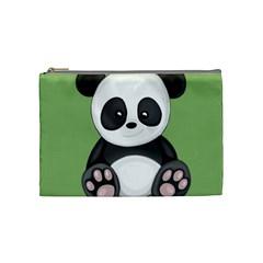 Cute Panda Cosmetic Bag (medium)  by Valentinaart