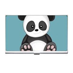 Cute Panda Business Card Holders by Valentinaart