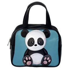 Cute Panda Classic Handbags (one Side) by Valentinaart
