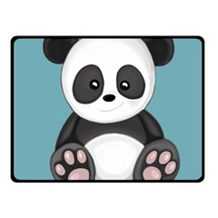 Cute Panda Fleece Blanket (small) by Valentinaart