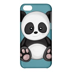 Cute Panda Apple Iphone 5c Hardshell Case by Valentinaart
