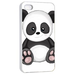 Cute Panda Apple Iphone 4/4s Seamless Case (white) by Valentinaart