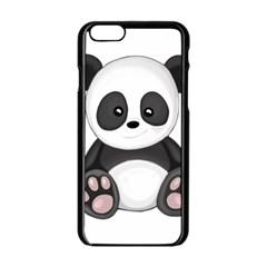 Cute Panda Apple Iphone 6/6s Black Enamel Case by Valentinaart