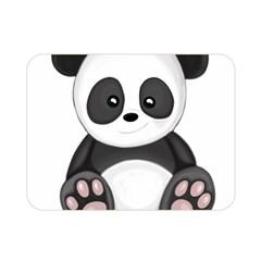 Cute Panda Double Sided Flano Blanket (mini)  by Valentinaart