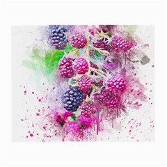 Blackberry Fruit Art Abstract Small Glasses Cloth by Celenk