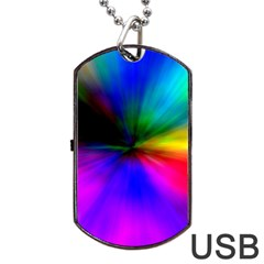 Creativity Abstract Alive Dog Tag Usb Flash (two Sides) by Celenk