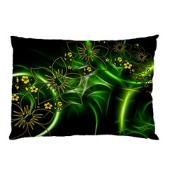 Flora Entwine Fractals Flowers Pillow Case (two Sides) by Celenk