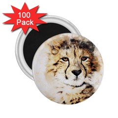 Leopard Animal Art Abstract 2 25  Magnets (100 Pack)  by Celenk