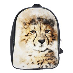 Leopard Animal Art Abstract School Bag (xl) by Celenk