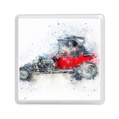Car Old Car Art Abstract Memory Card Reader (square)  by Celenk